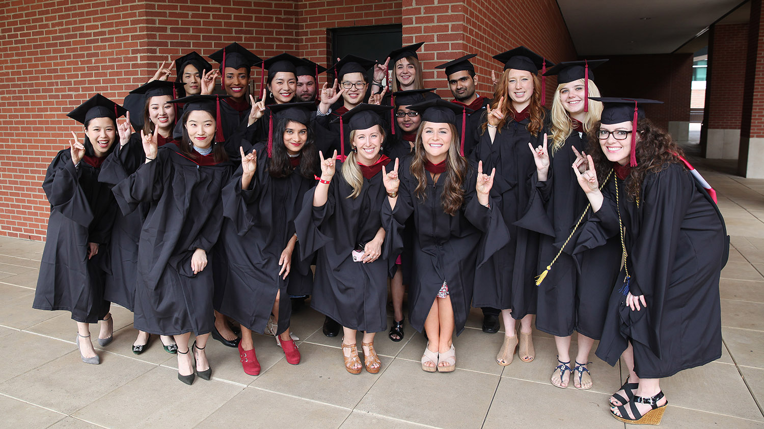 Spring 2017 commencement group photo of master's students