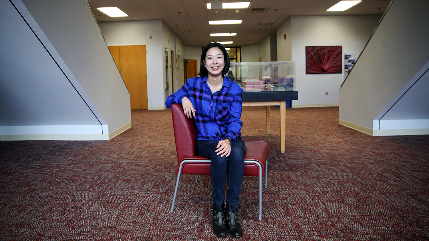 Yaewon Park, Sea Grant fellow, in the College of Textles