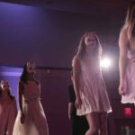 Models wear Caitlin McCall designs on Threads fashion show runway