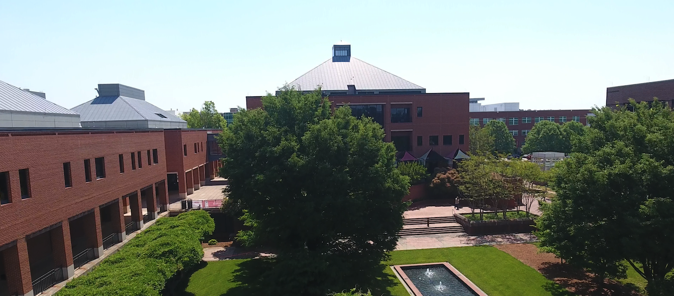 Aerial photo of the Wilson College of Textiles