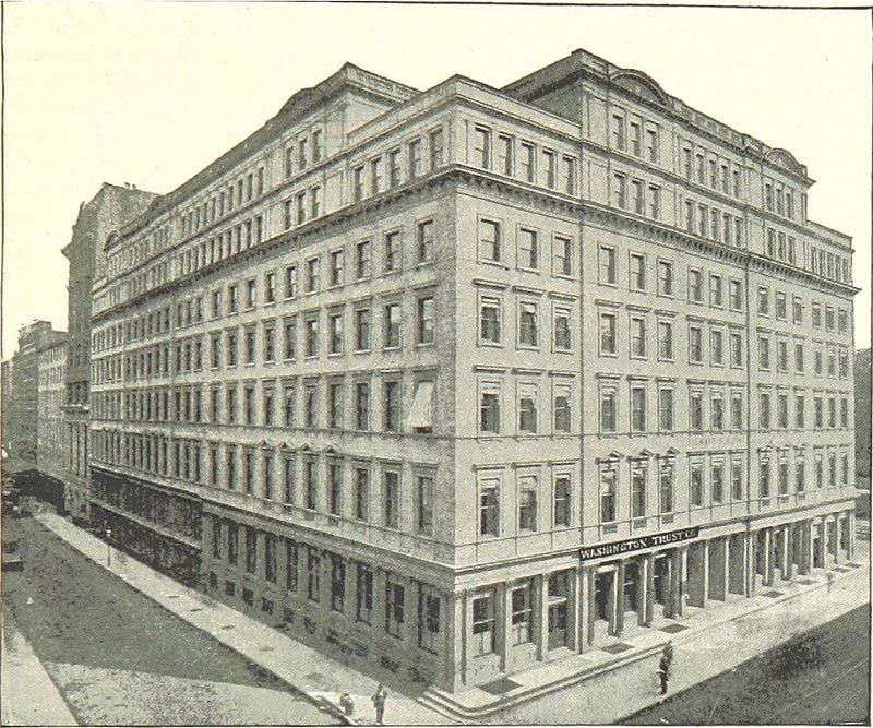 Image of a corner view of the Marble Palace department store