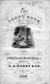 """1830 cover of the magazine """"Godey's Lady's Book"""""""