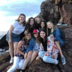 Group of young women on a mountain in Australia