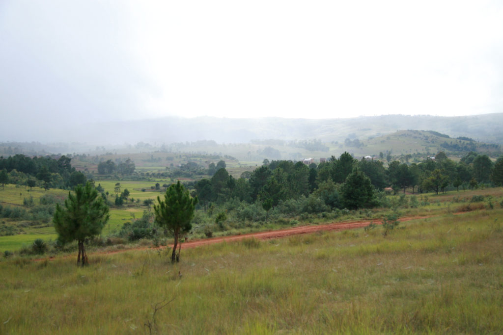 Landscape photo of the countryside of the central highlands of Madagascar