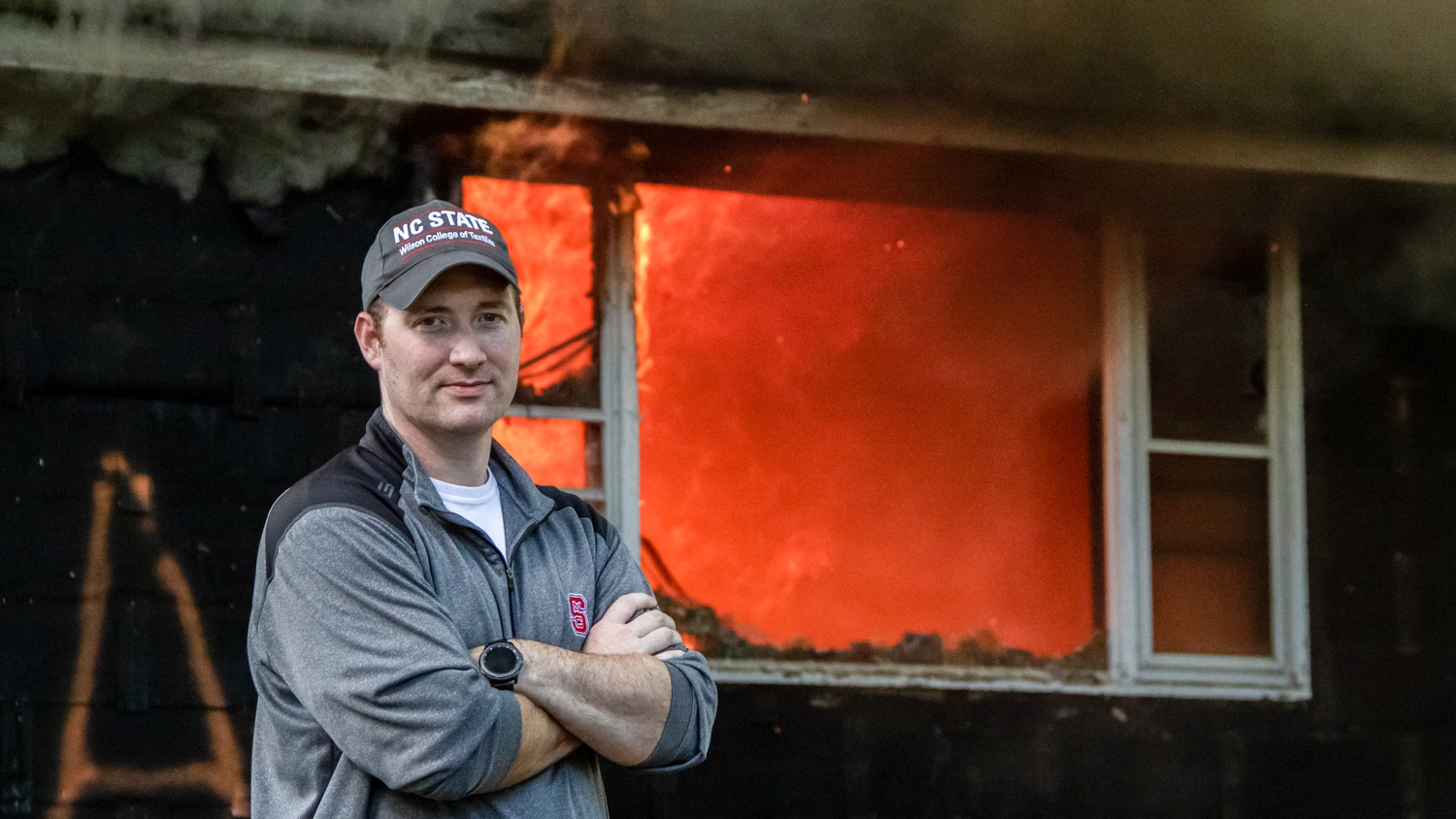 Dr. Bryan Ormond at a controlled burn