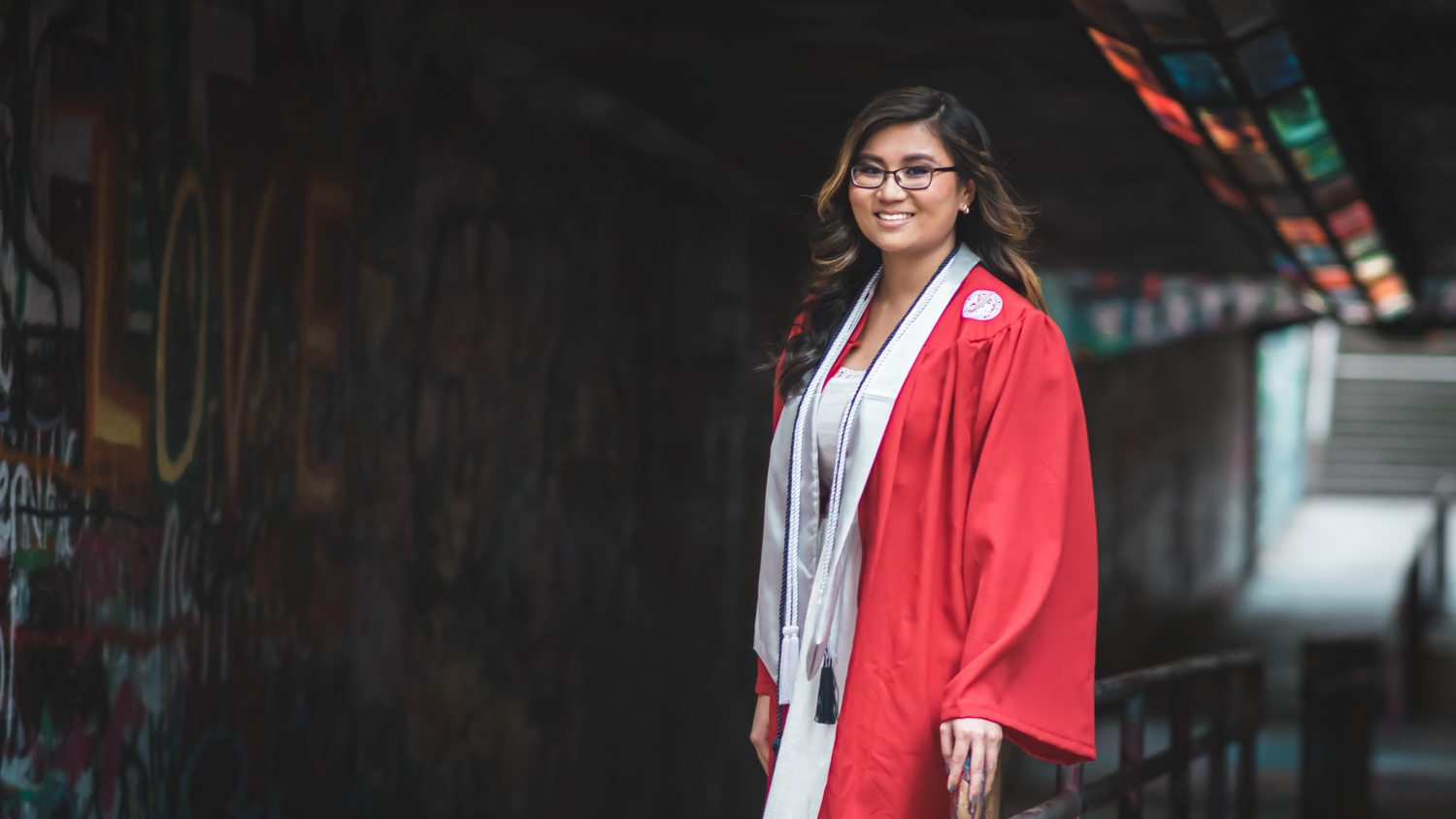 Meilin Walker at commencement