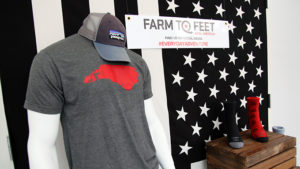 farm to feet merchandising display