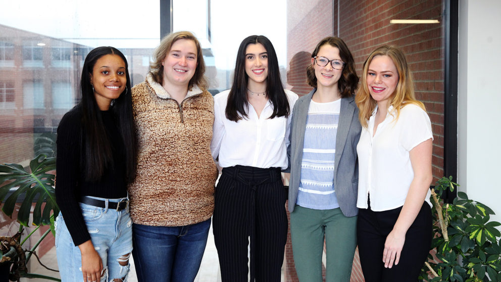 Photo of five students who received 2018 FSF scholarships.