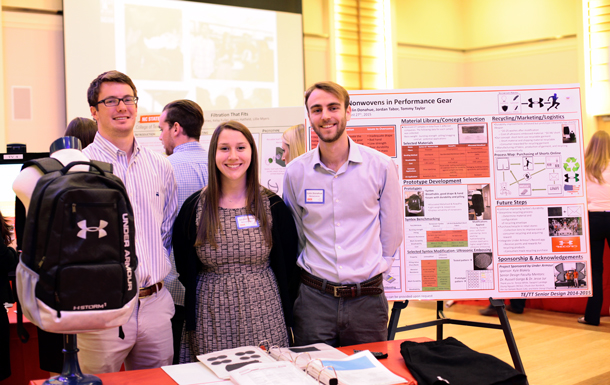 (L to R) Tommy Taylor, Jordan Tabor, Colin Donahue at the 2015 NC State Design Day.