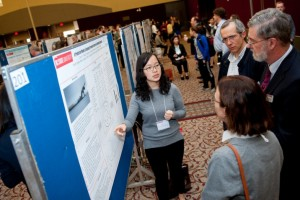 Graduate student presents research