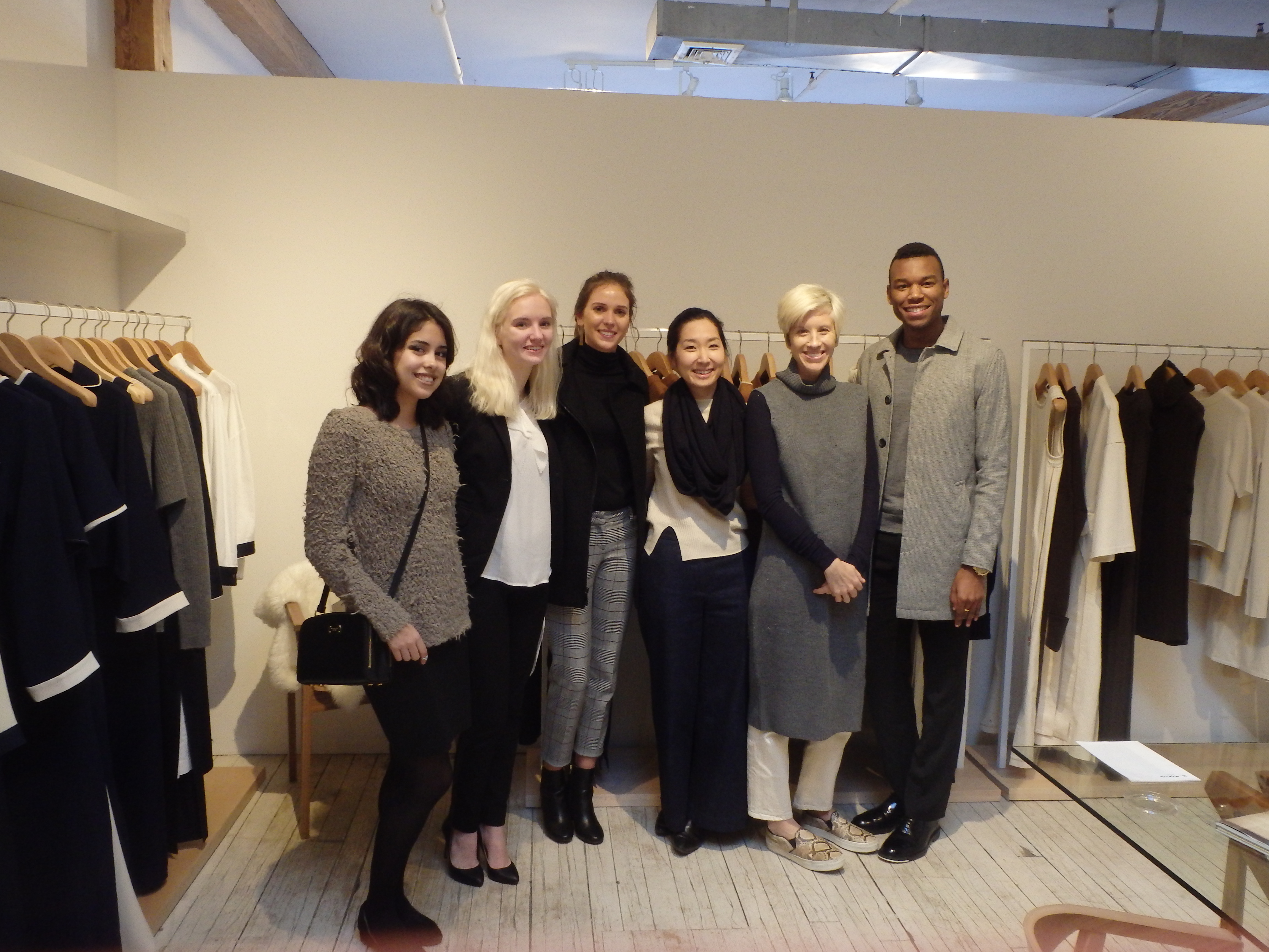 Students at YMA Fashion Scholarship Fund Competition