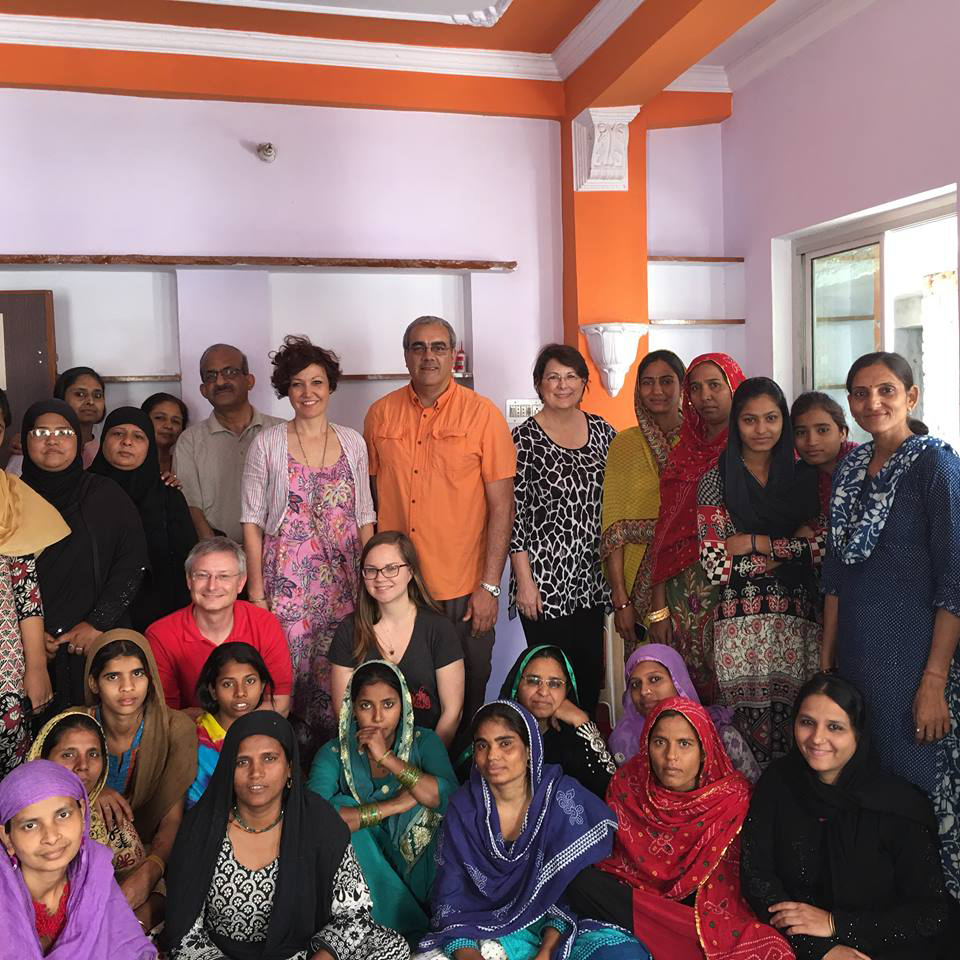 Faculty and students from NC State's Wilson College of Textiles met with the women of Hunar in Jaipur, India in March 2016.