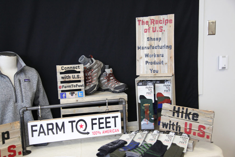 Farm to Feet Table Display
