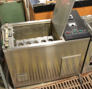 Atlas Launder-Ometer – Used for AATCC accelerated wash test methods; runs max. of 20 samples simultaneously